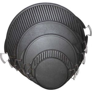 Litoželezna plošča okrogla - obojestranska